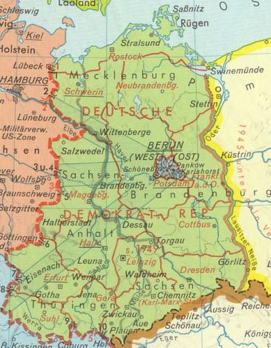 Deutschlandkarte Ddr