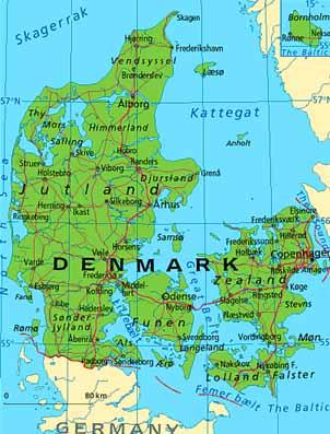 Dänemark Nordseeküste Karte.über Dänemark